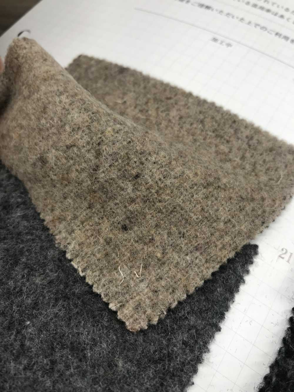 68172 1/10 Flat Double Woven Reversible Double-sided Fuzzy[using Recycled Wool Thread][Textile / Fabric] VANCET Sub Photo